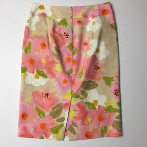 J. Crew Skirts - J CREW Watercolor Floral Pencil Skirt 0
